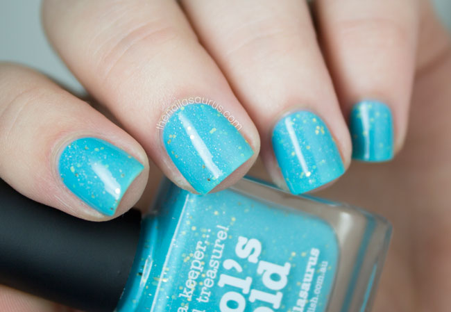 Fool's Gold // Blue Glittery Nail Polish