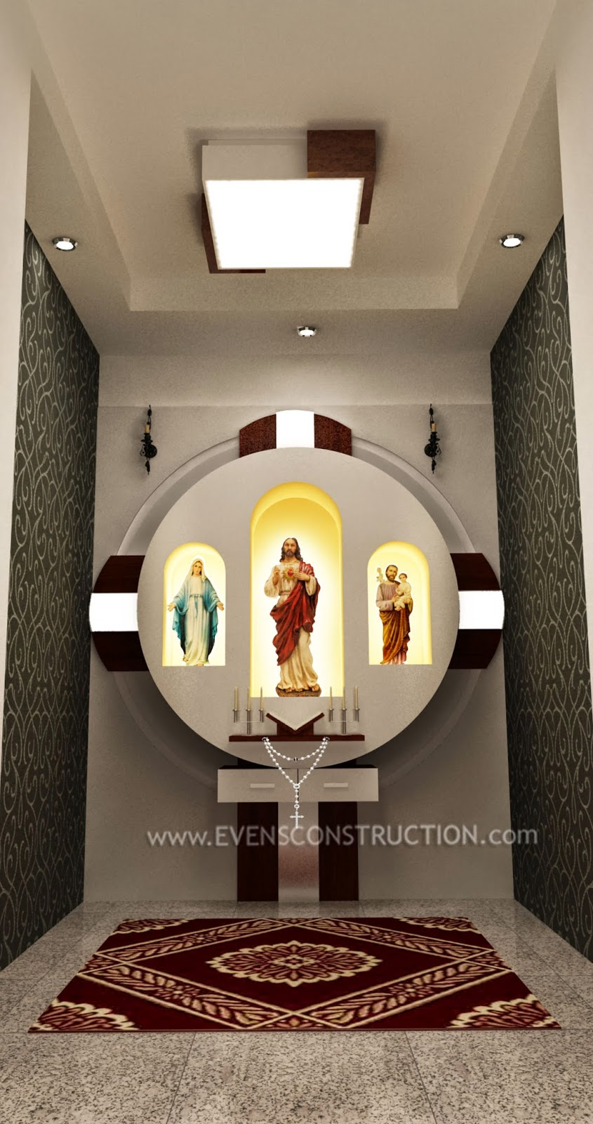 prayer room design kerala christian homes joy studio