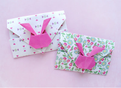 zakka life pretty origami bunny envelopes