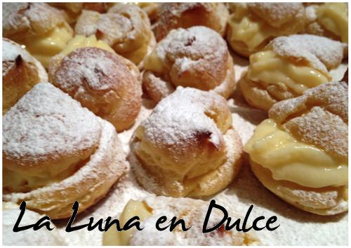 La luna en dulce profiteroles rellenos de crema pastelera - Profiteroles salados rellenos ...