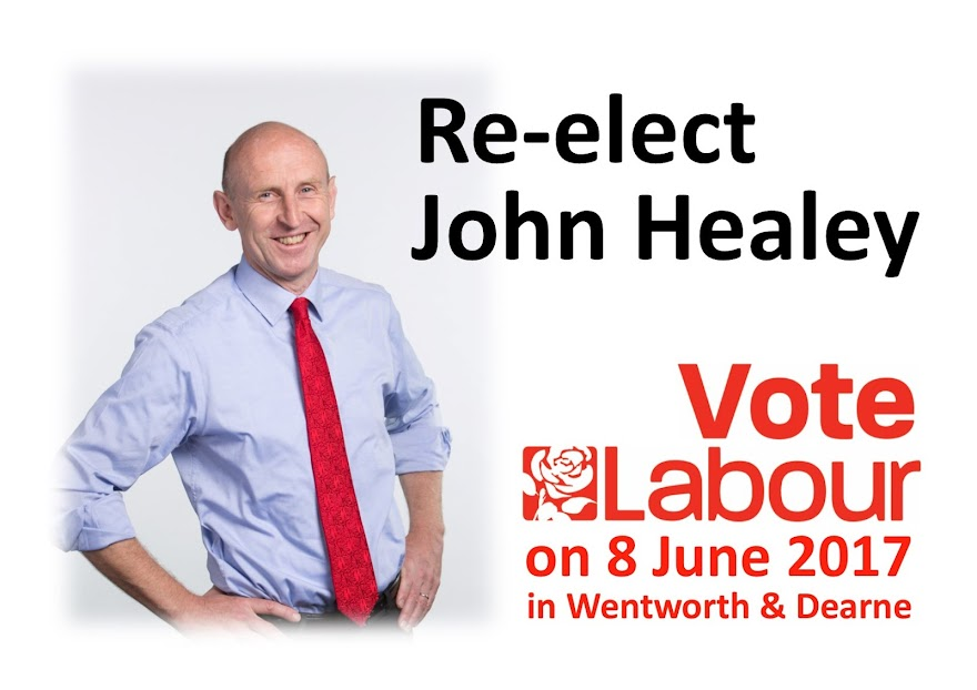 Re-elect John Healey as MP for Wentworth and Dearne in 2015