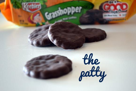 Grasshopper Cookies as patty