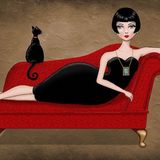 Žena s moly (a kočkou)