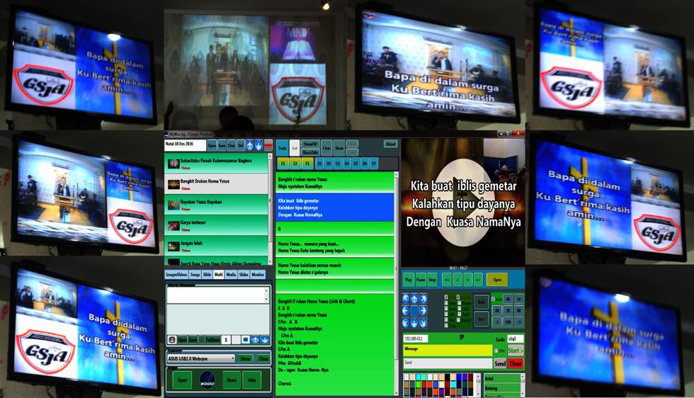 WeWorship Church Presentation Software, Software Presentasi untuk Gereja dan Ibadah Pelayanan