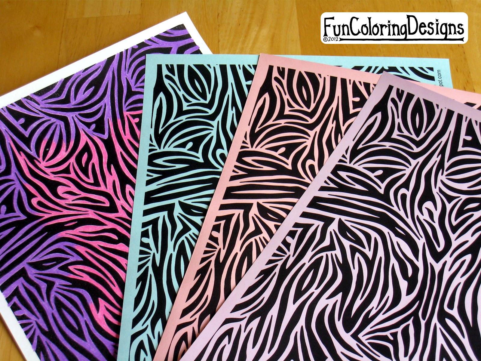 Fun coloring designs free designs