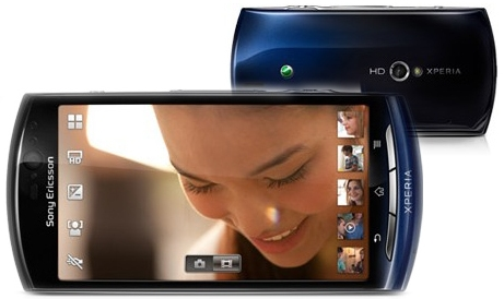 sony ericsson xperia neo v Blue video quality