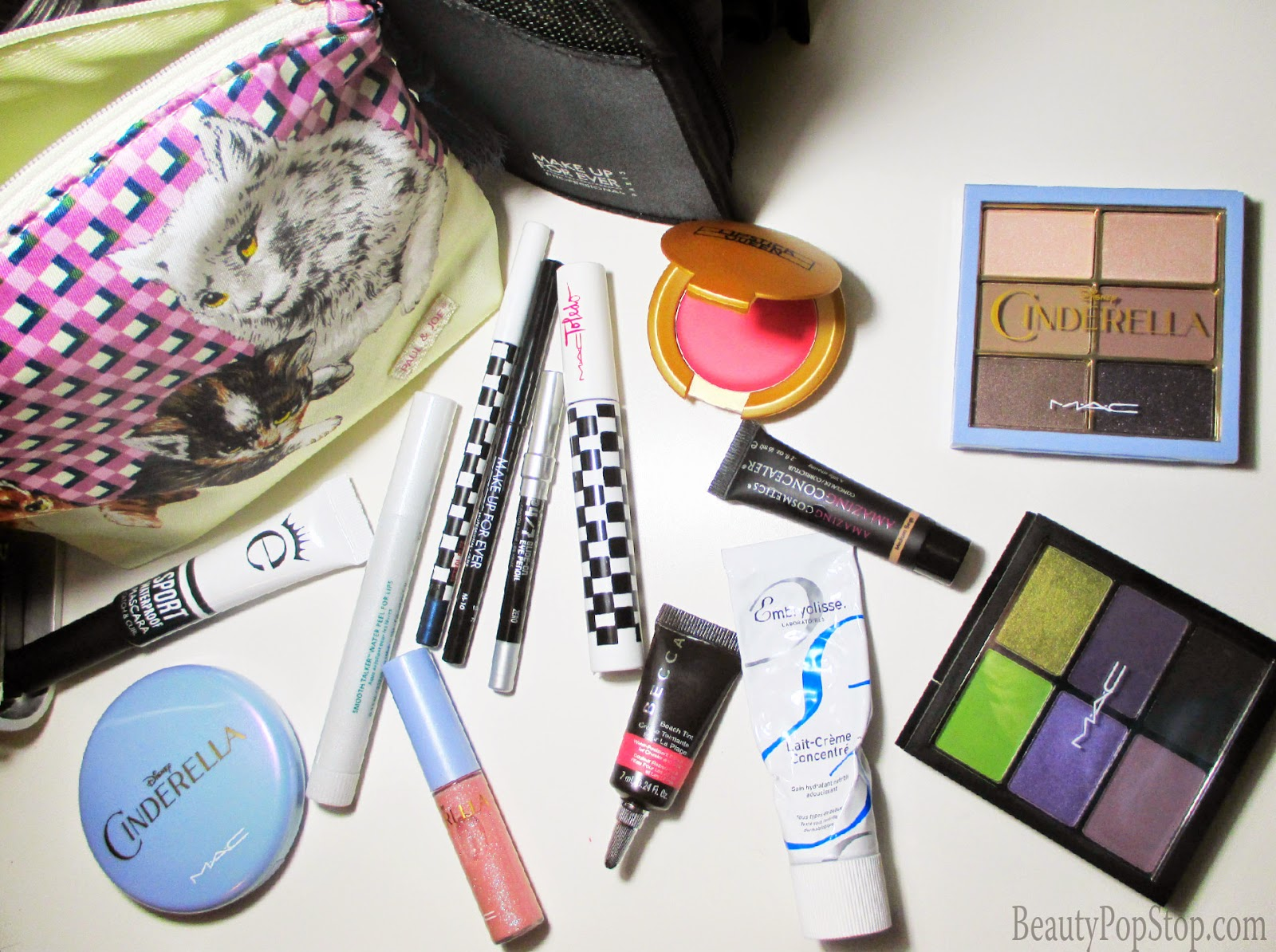 top spring break travel makeup bag products & tips mac cinderella, make up for ever, amazing cosmetics, urban decay