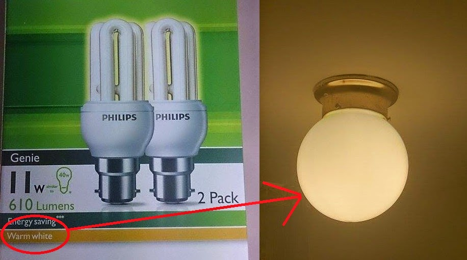 Warm White Light Bulbs: but if you buy a