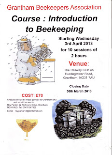 Bee Keeping Course in Grantham.
