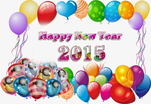 Colorful Balloons Happy New Year Wallpaper 2015