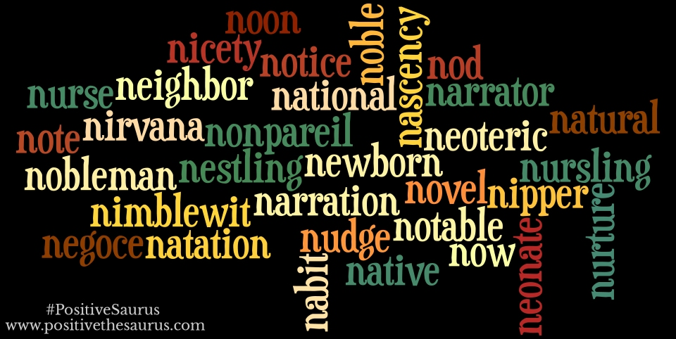 positive nouns that start with n