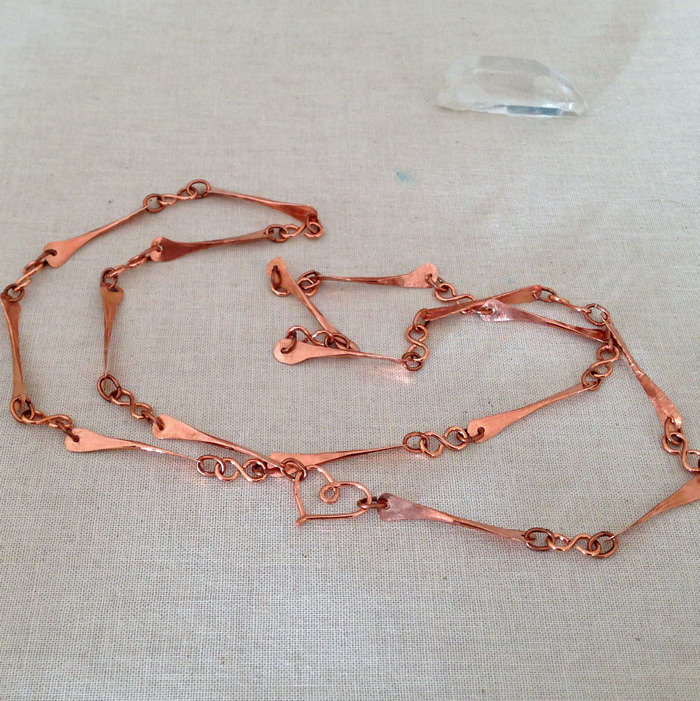 Hammered Wire Bone Links Jewelry Project: Lisa Yang's Jewelry Blog