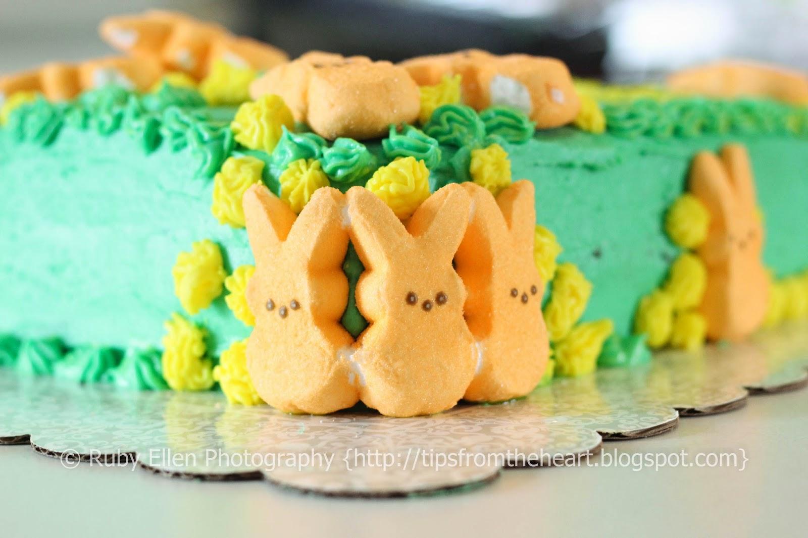 peeps on cake