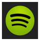 image Spotify Music App Green circle on black background