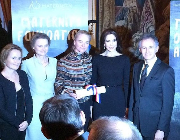 Crown Princess Mary of Denmark attended as patron of the Maternity Foundation the presentation ceremony of the French Embassy's Prize for Human Rights