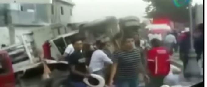 VIDEO: VAN 27 PEREGRINOS MUERTOS POR ACCIDENTE EN ZACATECAS