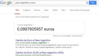 trucos google conversor monedas