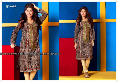 Sadabhaar Kurti Eid Collection 2015 By Tawakkal Fabrics