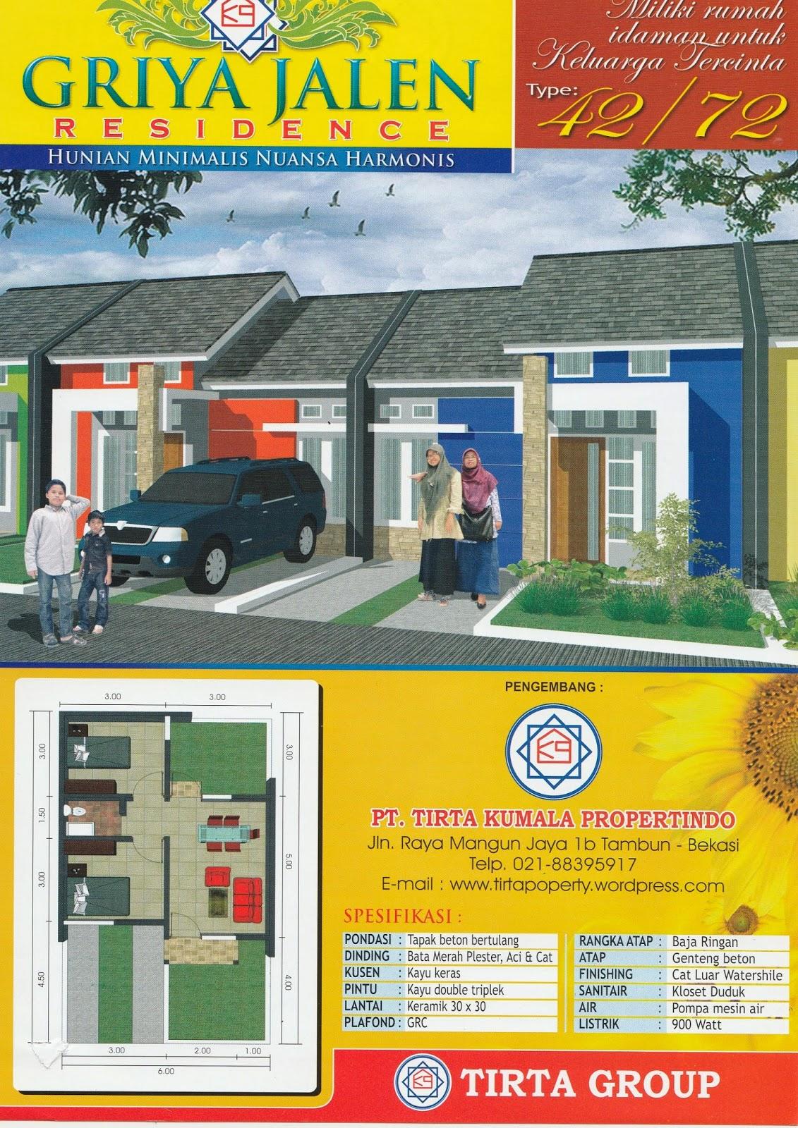 Brosur Rumah Murah Tambun Bekasi Griya Jalen Residence