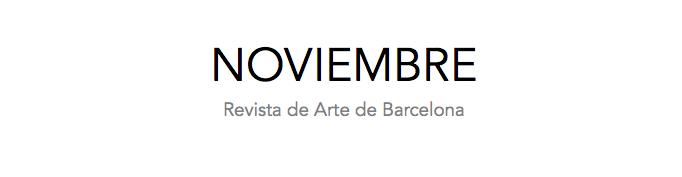 NOVIEMBRE | Revista de Arte de Barcelona