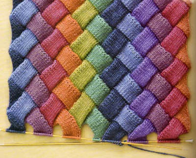 Knitting Stitch Patterns Entrelac : Fiber Space: Entrelac Knitting