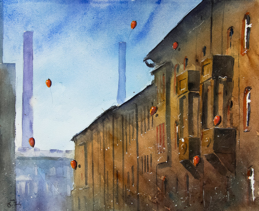 09-A-view-from-Rymarska-Street-Grzegorz-Chudy-sanderus-Dreams-Started-with-Watercolor-Paintings-www-designstack-co
