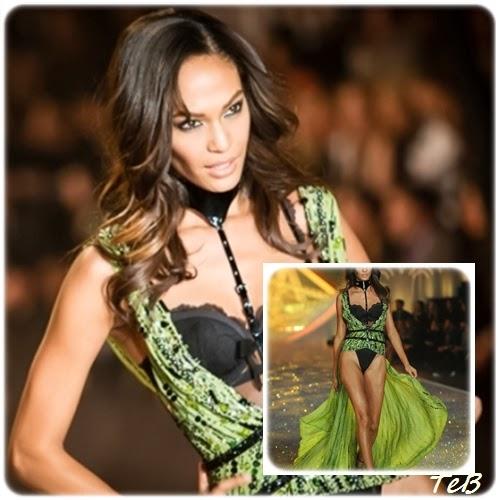 outfit semplice e poco originale, ma l'uso del colore resta strabiliante: è la portoricana Joan Smalls a dare impatto all'intero look. Good job!