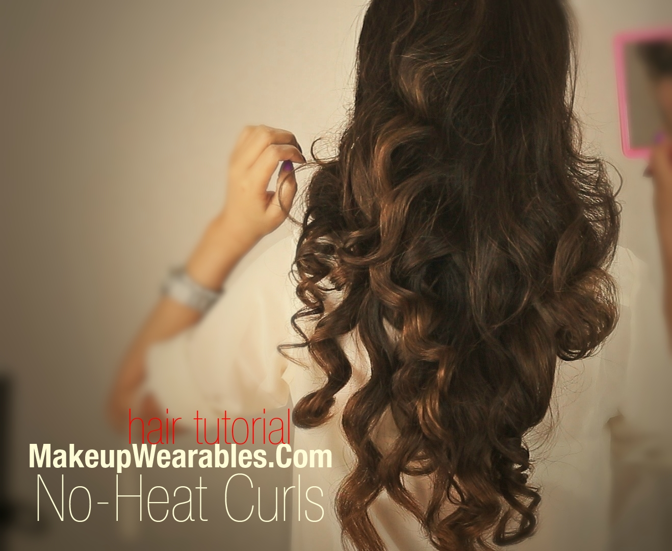 Kim Kardashian Hairstyles How To No Heat Curls Hair Tutorial Video