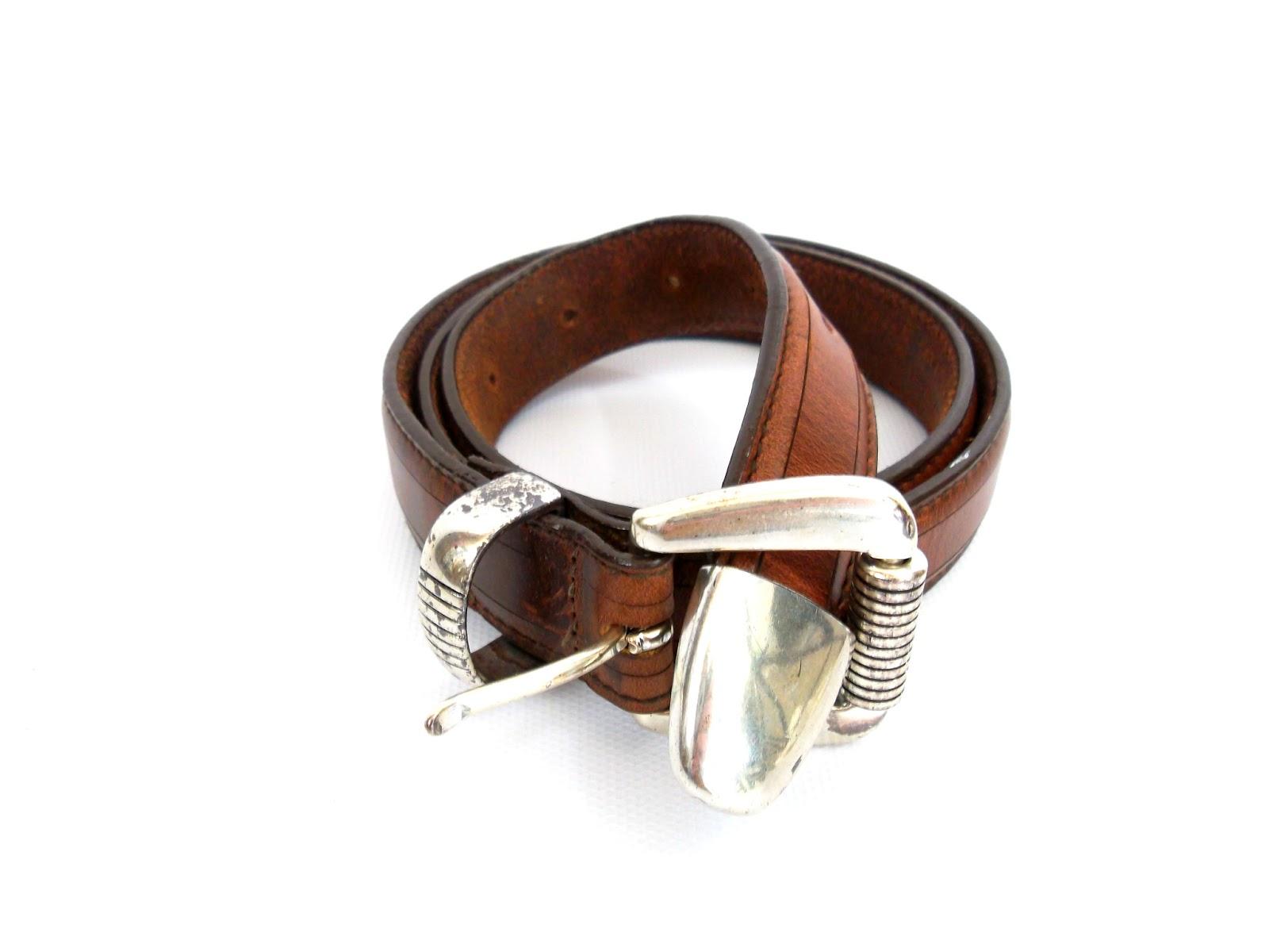 foxburrow vintage leather belt