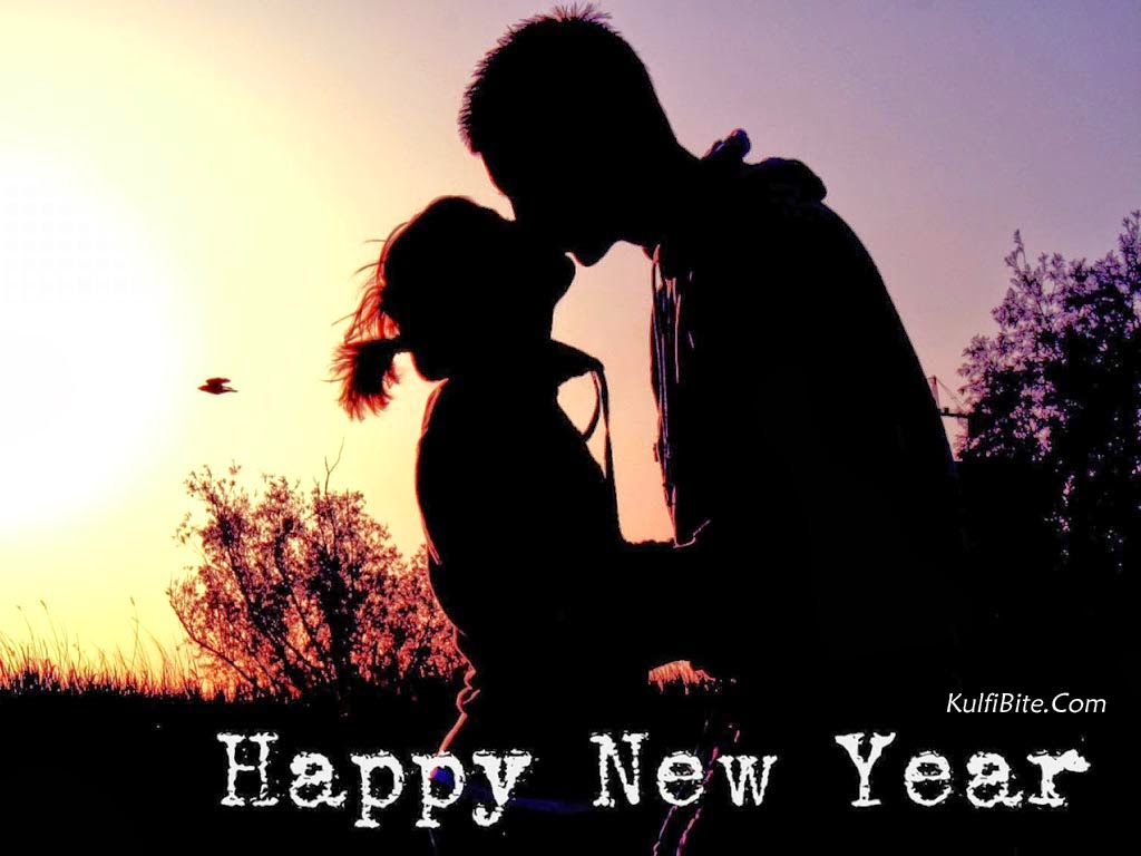 Love Wallpaper For New Year : Happy New Year cute Love, Hug, Kiss Wallpapers Wish Message Quotes
