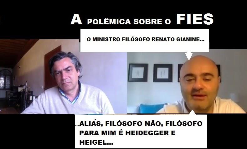 Sobre o FIES:  Em Vídeo Antagonista critica ministro da educação Renato Gianine Ribeiro