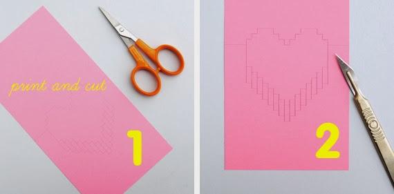Popular DIY Crafts Blog How to Make a Pixel Heart Pop up Card – How to Make a Valentine Pop Up Card