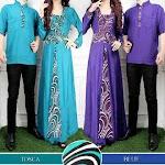 Busana Muslim Gamis Couple HK0974 HABIS