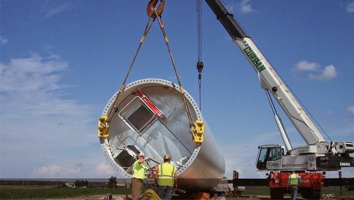 Overhead Crane Jha : Green job hazards wind energy farms turbines