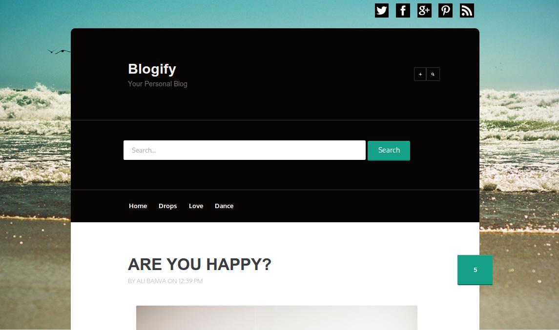Blogify Responsive Blogger Template