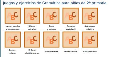 http://www.mundoprimaria.com/juegos-lenguaje/juegos-y-ejercicios-de-gramatica-para-ninos-de-2o-primaria-2