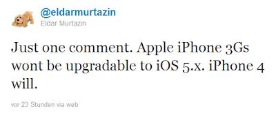 iOS 5 nicht auf iPhone 3GS