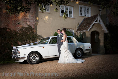 Bride and Groom Portrait, Steeple Court Manor, Botley, Hampshire, wedding car, rolls royce
