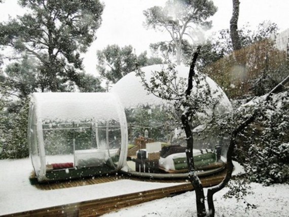 Hotel Berbentuk Botol Di Pegunungan Salju Perancis