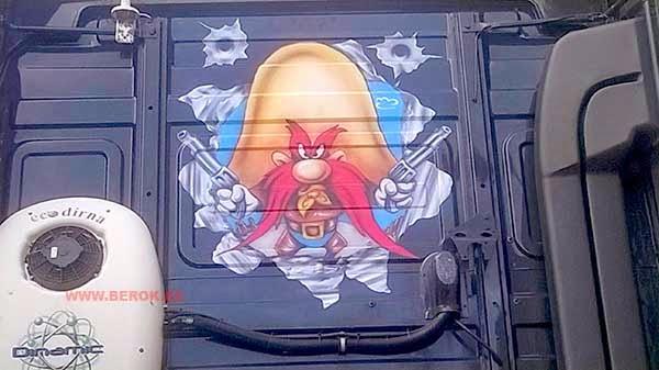 Aerografía camiones
