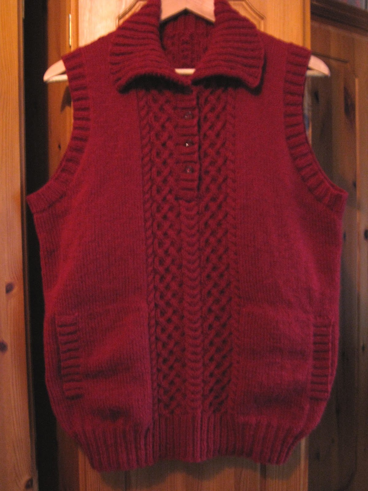 Sixties Spirit: Celtic braid sweater vest and hat