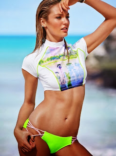 Candice Swanepoel Sexy Tight Bikini Bra Panties For Victorias Secret Feb 2014