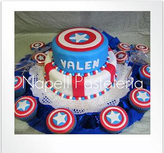 Torta Capitán America