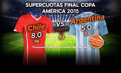 888sport Supercuota Mejorada Final Copa America Argentina vs Chile 4 julio
