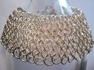 bransoletka rybia łuska chainmaille by be-rare
