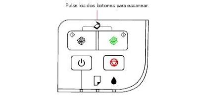 Кнопки для сканирования на панели принтера