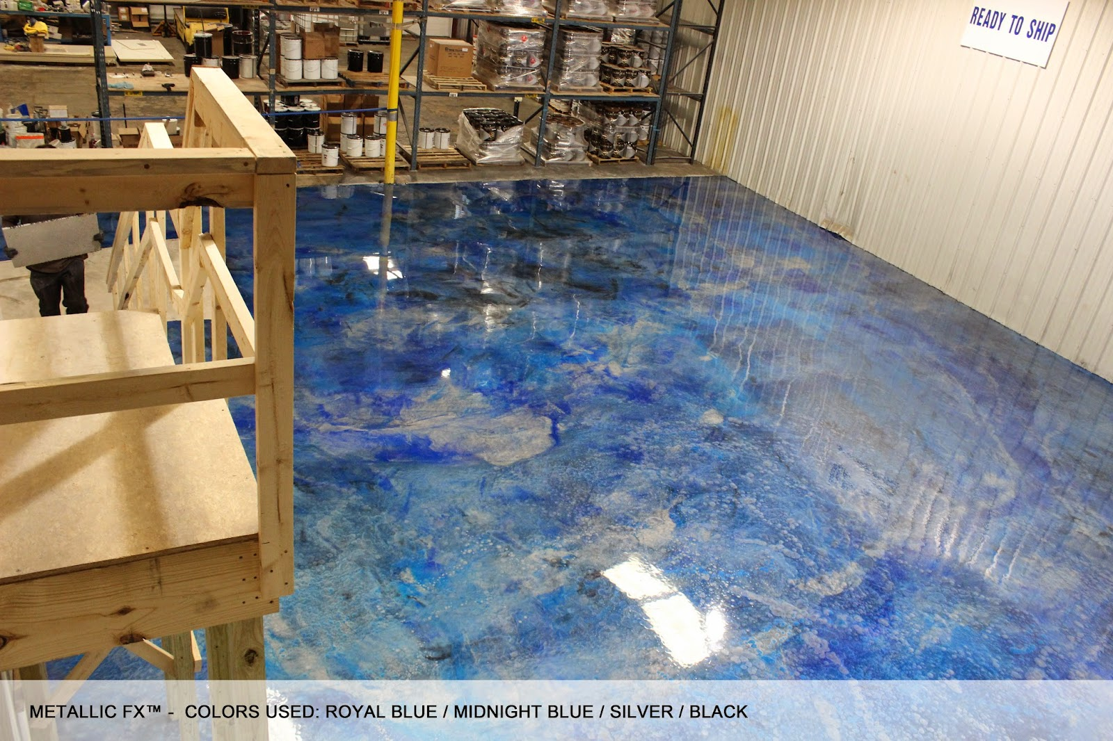 Epoxy Paint Effects : Surfkoat™ new metallic coatings on concrete floors