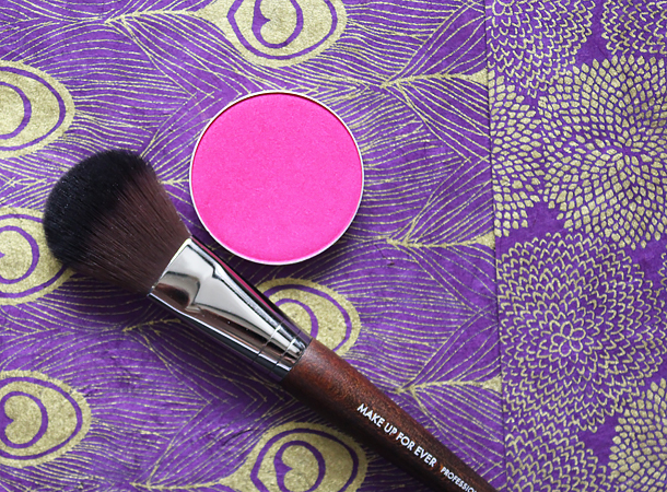 mac azalea blush swatch review