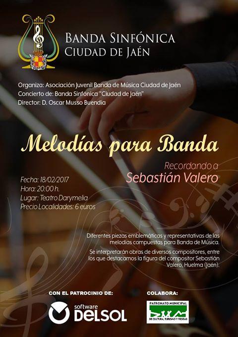 MELODIAS PARA BANDA. RECORDANDO A VALERO POR LA BANDA SINFÓNICA DE JAÉN