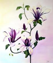 Magnolia acryl op doek